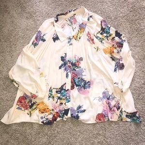Free People floral print tunic!